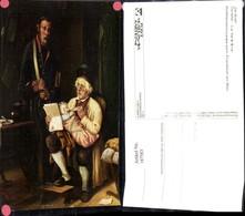 187583,Künstler Ak E. Ebers Der Brief The Letter Lesen Baby Flaschenfütterung Post Po - Post & Briefboten