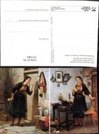 187346,Künstler Ak C. Hübner Der Liebesbrief U. D. Antwort Post Postwesen Lesen - Post & Briefboten
