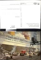 187213,Künstler Ak A. Kircher Postverkehr Deutschland USA Dampfer Bremen Um 1935 Schi - Post & Briefboten
