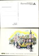187136,Künstler Ak 50 Jahre Postauto I. Österreich Post Postwesen - Post & Briefboten
