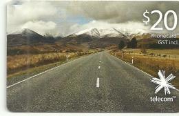 Nouvelle Zélande - New Zealand - Carte Téléphonique Utilisée - Phonecard Used Paysage Landscape - Nouvelle-Zélande