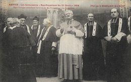 Nantes - Manifestations Du 22 Février 1906 Les Inventaires, Mgr L'Evêque Attendant M. L'Inspecteur - Carte Non Circulée - Betogingen