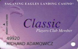 Saganing Eagle's Landing Casino - Standish, MI - Slot Card - Web Address Upper & Lower Case - Casino Cards