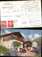189899,Künstler Ak F. Portier Dans La Montagne Pferd Bauernhaus Hof Landschaft - Ohne Zuordnung