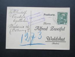 1916 Lenzburg, Alfred Zweifel, Malagakellereien,Spezialhaus Für Südweine U. Cognac. Alkohol.Zensuriert Briefzensur Prag - 1850-1918 Imperium