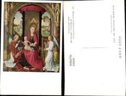 258293,Künstler AK Memling Madonna And Child With Angels Maria Christus Engel Harfe - Engel