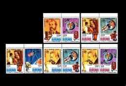 Burundi: 'Satellites In Space - Graham Bell, 1977', Mi. 1316-1325; Yv. 703-708+PA.441-444; Sc 511-513+c253-254 ** - Space