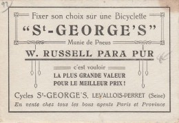 92 - LEVALLOIS PERRET - Cycles St George´s  Calendrier Publicitaire 1924 - Calendriers