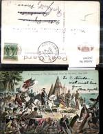 262597,Künstler Ak 2 Discovery Of The Mississippi River By De Soto 1541 Indianer Gesc - Geschichte