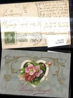 262773,Präge Litho Liebe Herz Blumen Rosen  A Loving Thought Ornament - Paare
