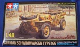 German Pkw.K2s Schwimmwagen  Typ 166  1/48  ( Tamiya ) - Military Vehicles