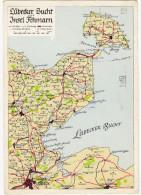 Lübecker Bucht Und Insel Fehmarn - (1955) - (Deutschland) - Landkaarten