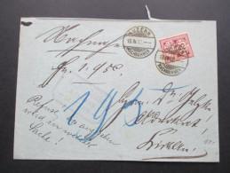 Schweiz 1902 Wappen EF Luzern Nachnahmen. Advokat. Vermerk: Refuse Bis Angegeben Wird In Welcher Sache! - Covers & Documents