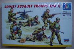 Soviet Assault Troops WW2  1/35  ( Italeri ) - Figurines