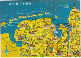 Nordsee & Ostfriesische Inseln - (Winschoten, Delfzijl, Spiekeroog, Cuxhafen, Bremen Usw.) - (Deutschland) - Landkaarten