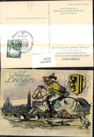 263187,Künstler Ak K. W. Schmidt Berufe Postwesen Postillion Um 1770 Stempel Dresend - Post & Briefboten