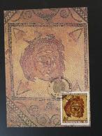 Carte Maximum Card Mosaique Romaine Diekirch Luxembourg 1996 - Archéologie