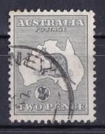 Australia 1915 Kangaroo 2d Grey 2nd Watermark Used - SG 24 - - 1913-48 Kangaroos