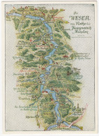 Die WESER Von Vlotho Bis Hannoversch Münden - (Deutschland) - Landkaarten
