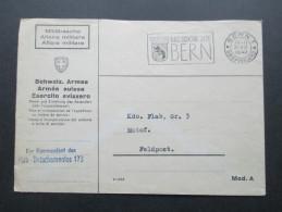 Schweiz 1942 Militärsache Schweiz. Armee. Der Kommandant Des Flab - Detachementes 173 An Kdo. Flab Gr. 3 Motof. Feldpost - Briefe U. Dokumente
