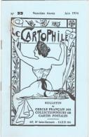 LE CARTOPHILE N° 33 JUIN 1974 LES HALLES A PARIS LE POISSON D AVRIL RAPHAEL KIRCHNER LES REMOULEURS DE THIERS CLEMENCEAU - Français