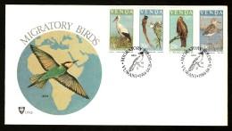 Venda 1984 Migratory Birds Flycatcher Strok Fauna Wildlife Sc 108-11 FDC # 16299 - Storks & Long-legged Wading Birds