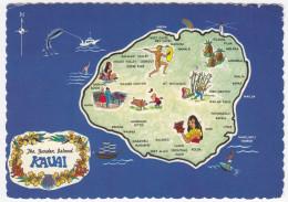 KAUAI ( Hawaii) - MAP / CARTE GÉOGRAPHIQUE / LANDKAART / KARTE - USA - Cartes Géographiques