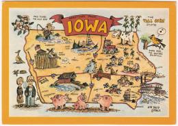 IOWA - MAP / CARTE GÉOGRAPHIQUE / LANDKAART / KARTE - USA - Cartes Géographiques