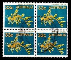 Australia 1985 Marine Life 33c Sea-Dragon Block Of 4 Used - See Notes - 1966-79 Elizabeth II