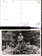 264074,Foto Ak Blumenteufel D. Weltkrieges Soldat Statue Wald Tiroler Freiheitskampf - Geschichte
