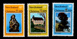New Zealand 1979 Christmas Set Of 3 Used - New Zealand