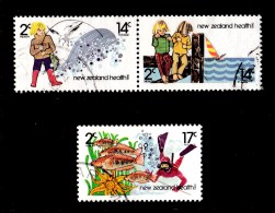 New Zealand 1980 Health - Fishing, Children Set Of 3 Used - New Zealand