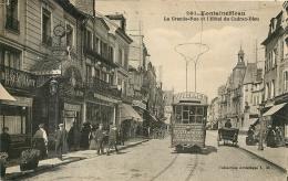 FONTAINEBLEAU LA GRANDE RUE ET HOTEL DU CADRAN BLEU - Fontainebleau