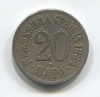 KINGDOM OF SERBIA - 20 Para, 1884. - Serbie