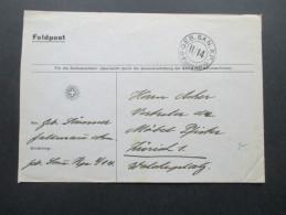 Schweiz Feldpost Geb. San. KP. II/14 Soldatenstube. Generalvertretung Der Bernina Nämaschinen - Briefe U. Dokumente