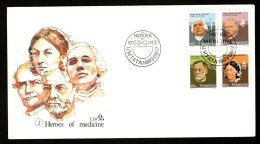 Transkei 1982 Great Medical Pioneers Health Nightingale L.Pasteur Sc 101-4 FDC # 16234 - Other