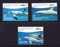 Cocos Islands 2016 Dolphins Set Of 3 MNH - Islas Cocos (Keeling)