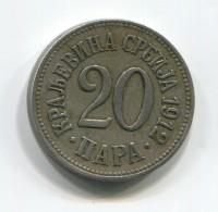 KINGDOM OF SERBIA - 20 Para, 1912. - Serbie
