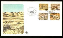 South West Africa 1978 Snake Scorpion Desert Animal Wildlife Sc 411-4 FDC # 16416 - Snakes