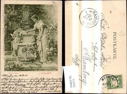 264532,Künstler Ak Hans Zatzka Liebesorakel Frau Amor B. Brunnen Pub F. A. Ackermann - Zatzka