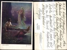 264525,Künstler Ak Hans Zatzka Der Fischer Mann Ruderboot Erscheinung Frau A. Wasser - Zatzka