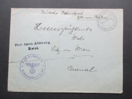 DR / Böhmen Und Mähren Deutsche Dienstpost Böhmen Und Mähren. Brünn. Frei Durch Ablösung Reich. 4. M.G. Kompanie - Bohemia & Moravia