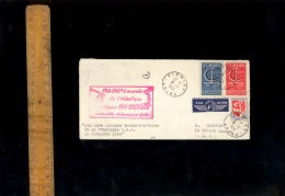 150 000 Eme Traversée De L'atlantique Par Clippers PAN AMERICAN AIRLINES PAA 8 Novembre 1966 Firminy Jamaica NY 10 11 - Erinnofilia