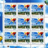 Russia 2016 Sheet 9 V MNH 850th Anniversary Of Velikie Luki Balloon - Montgolfières