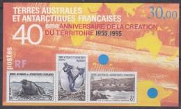 TAAF 1995 40ème Anniversaire De La Creation Du Territoire M/s ** Mnh (31189) - Blokken & Velletjes