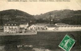 Val D´ajol La Croix Chateau Et Usine Vus Des Feuillees Circulee En 1913 - Frankrijk