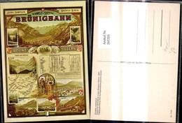 265203,Repro Reklame Schweiz Brünigbahn Brienz Luzern Plakat F. Brüniglinie Jura Simp - Werbepostkarten
