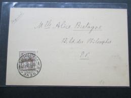 Schweiz 1908 Postkarte Geneva Esperantista Grupo. Esperanto. Imprime - Covers & Documents
