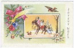 Joyeux Noel Ane Anges  -RECTO/VERSO--C50 - Noël
