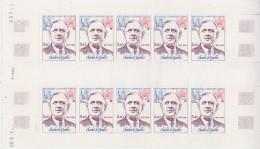 TAAF 1980 Charles De Gaulle 1v Sheetlet  (unfolded) ** Mnh (TA102) - Luchtpost